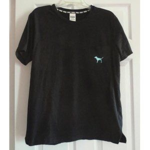 PINK Victoria's Secret Black T-Shirt with Logo